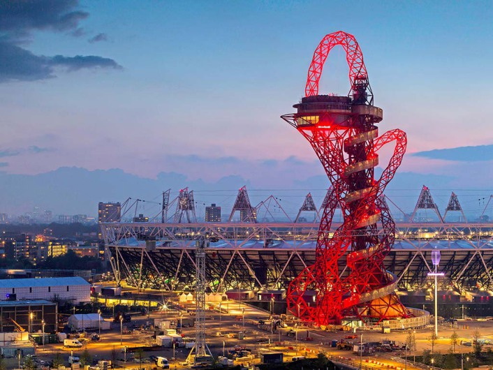 ArcelorMittal Orbit lights up East London. For further information contact the Media Team at the London Legacy Development Corporation on +44 (0) 20 3288 1777, +44 (0) 7817 386 499 or email: pressoffice@londonlegacy.co.uk